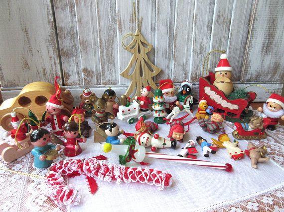 Vintage Snowman Christmas Tree Ornament Mini Porcelain Xmas Holiday Decor
