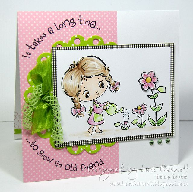 Designed by Lori Barnett. Stamps from Crafter's Companion S.W.A.L.K. Collection - Old Friend set