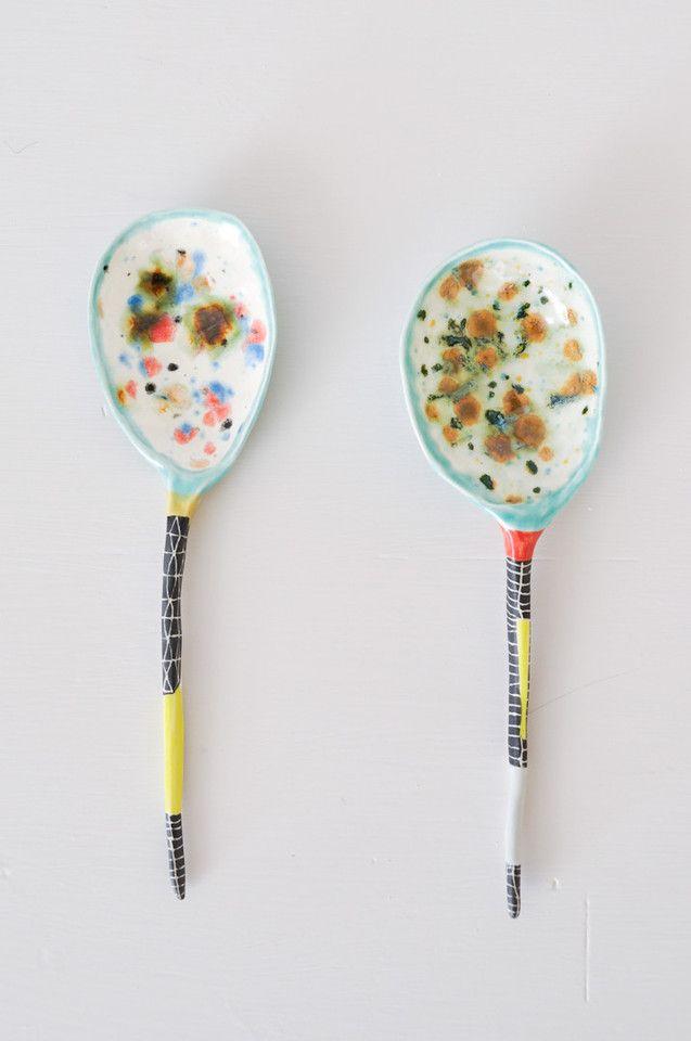 Ceramic spoon colored cosas casas pinterest for Menaje cocina japonesa