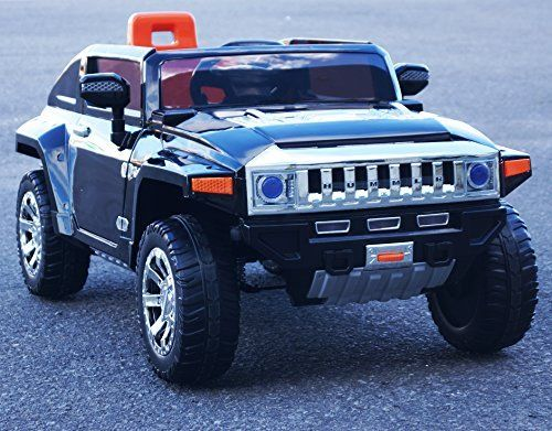 Upgraded Kids 12v Official H4 Hummer Battery Operated Ride on Car with RemoteControl/Opening doors/Real paint body/Mp3/Black
