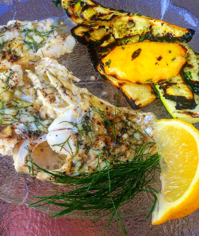 ewad | grilled haddock with lemon dill sauce