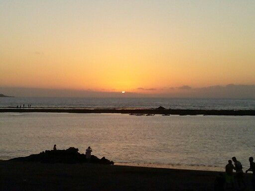 Atardece en Las Canteras. (Gran Canaria)