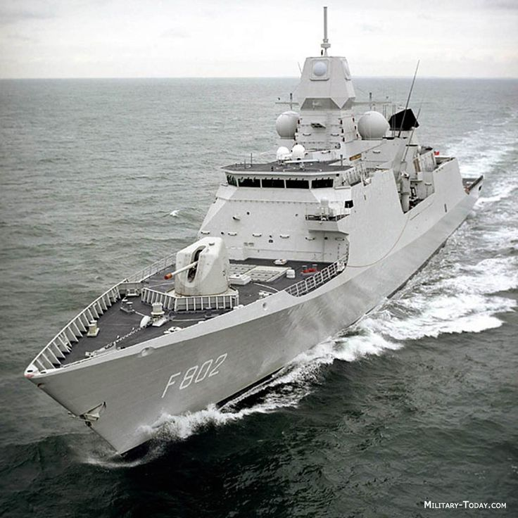 F802 De Zeven Provinciën - De Zeven Provinciën-class frigates are highly advanced air-defence and command frigates in service with the Koninklijke Marine (Royal Netherlands Navy)