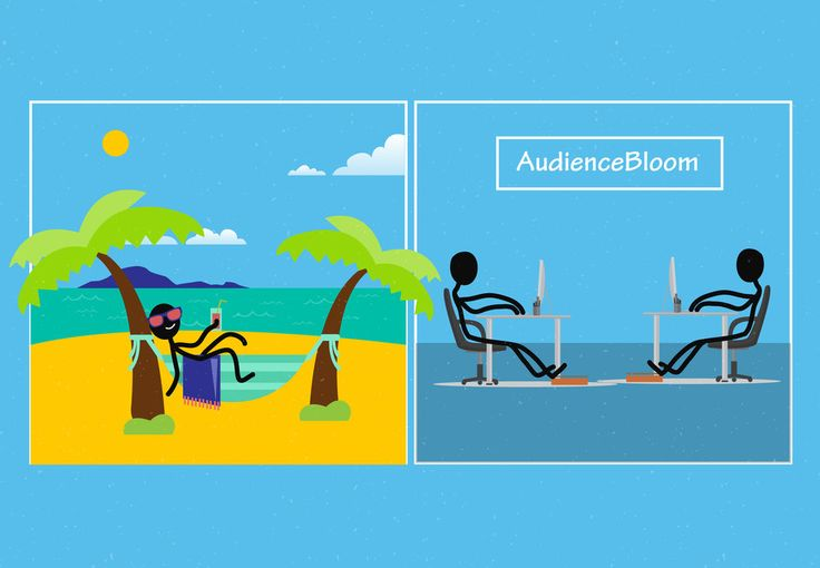 AudienceBloom's Link-Building Services by George Mussel       #illustration #editorialillustration #editorial #art #drawing  #stickfigure #stick #figure #summer   #onlinemarketing #contentmarketing #content #seo #linkbuilding