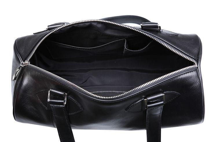 Inside #black #leather #cylinder #handbags #barrel #barrelbag