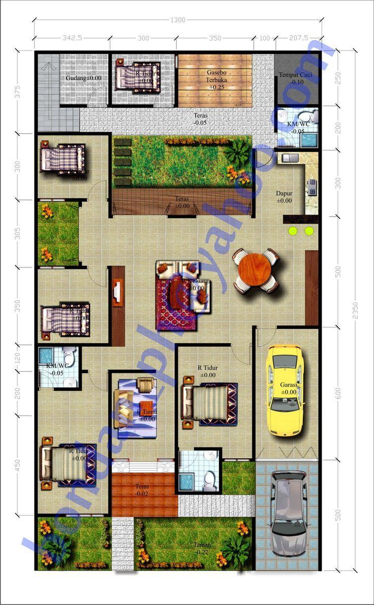 Mengagumkan 15 Desain Rumah Mewah 1 Lantai 4 Kamar | Desain Rumah Modern...