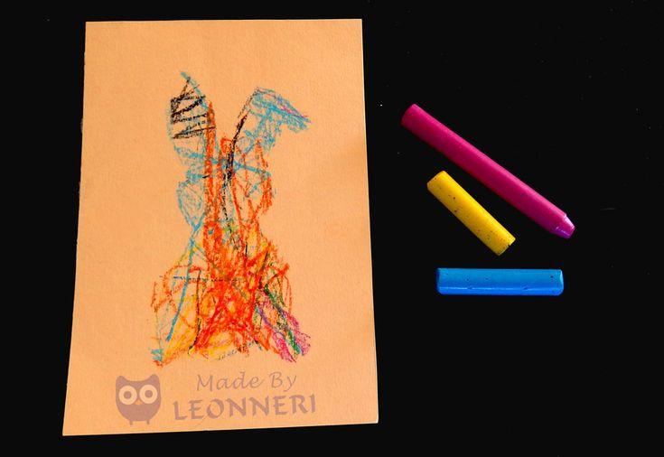 Anleitung: Bunte Osterhasen malen mit kleinen Kindern | LEONNERI