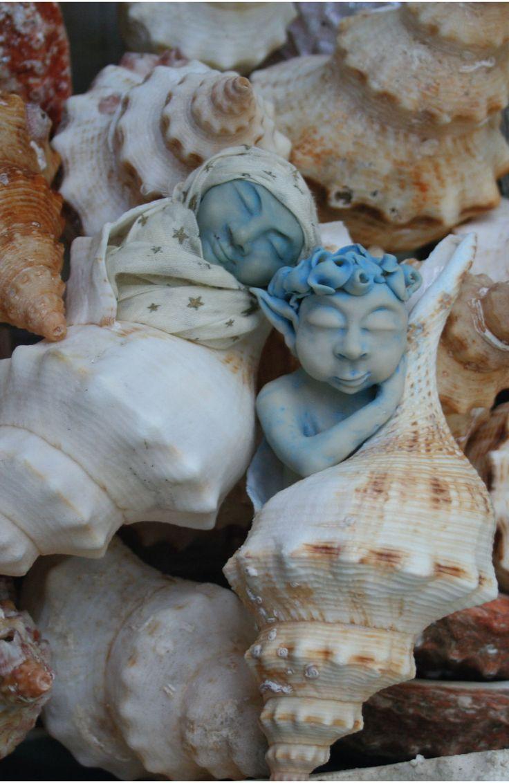 Polymer clay sea elves