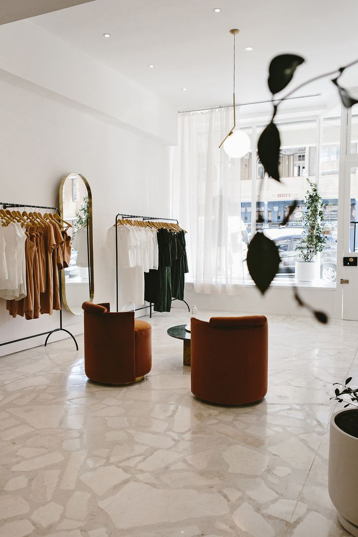 Pink Travertine and Rusty Velvet in a Coolly Chic Cape Town Boutique
