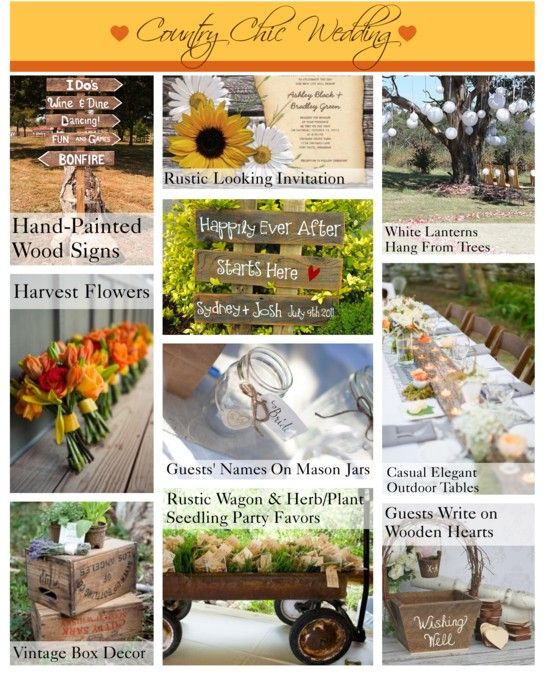 Country Chic Wedding Ideas - Entertaining Guide