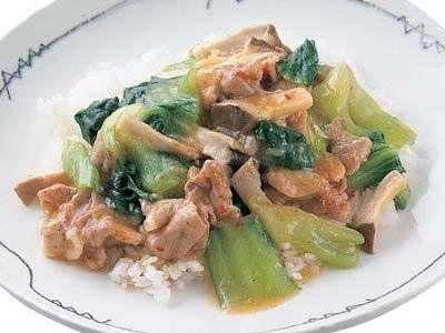 豚薄切り肉とチンゲンサイの中国風蒸し煮(きょうの料理)