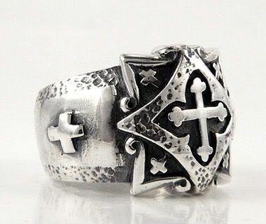 anillo templario en plata modelo 22