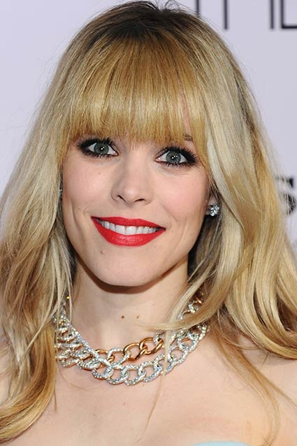 While Rachel McAdams is usually flawless, she went more than a little overboard with the cosmetics at The Vow premiere in Los Angeles. Her bright red lipstick in particular was garish paired with her smokey eyes and caked-on foundation. Lips or eyes ladies -- you can't always highlight them both!
