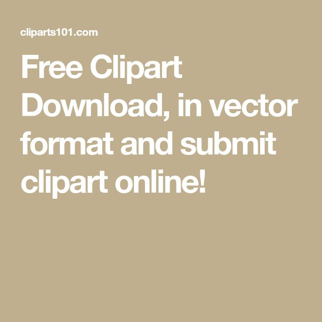 Free Clipart Download, in vector format and submit clipart online!