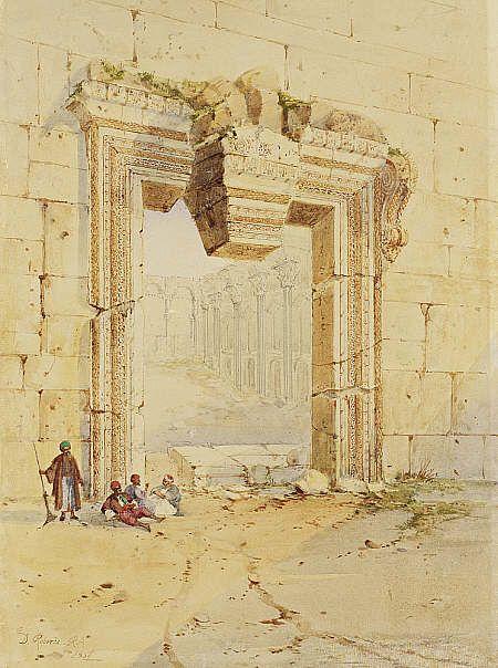 The Gateway, Baalbec David Roberts  Herbert Powell collection