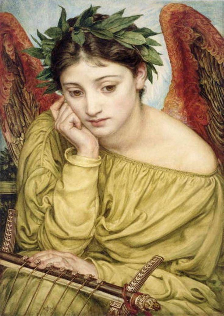 artsandcrafts28:  Erato, Muse Of Poetry Edward John Poynter 1870