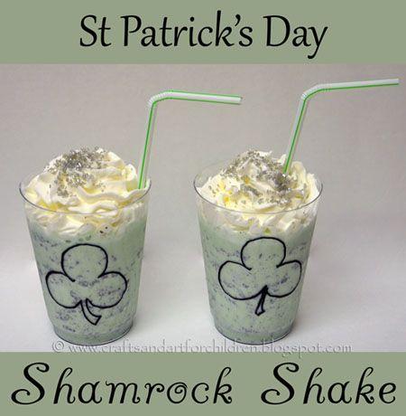 St Patrick's Day Shamrock Shake, Gold Coin Hunt, Leprechaun Mask - Artsy