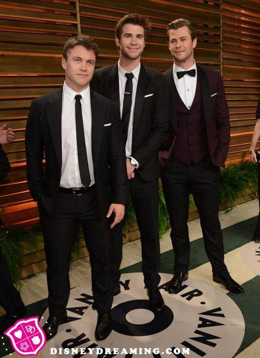 Chris Hemsworth, Liam Hemsworth and Luke Hemsworth at the ...