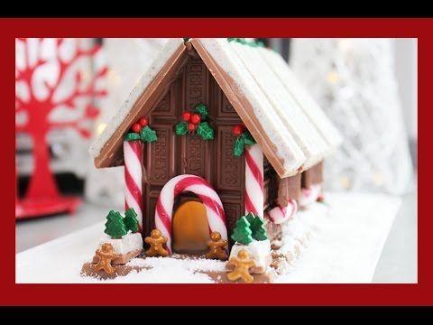 Candy Christmas House! A non-Gingerbread, No Bake Light Up Chocolate Xmas Alternative - YouTube
