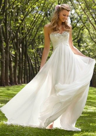 2014 Sheath/Column Chiffon Sweetheart Ruched Wedding Dresses CHWD-30151 - pretty but would like straps