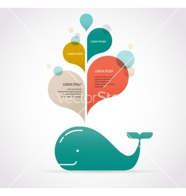 Whale icon with speech bubbles vector 4156318 - by ma_rish on VectorStock®