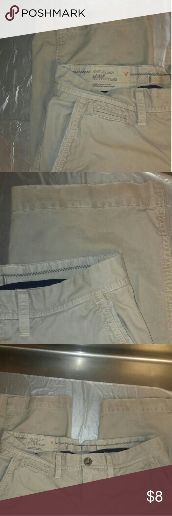 American Eagle 32x34 Khaki Style Pants! Good shape. Not excellent but good. Cheap pair of pants. 32 waist. 34 Length. American Eagle Outfitters Pants Chinos & Khakis