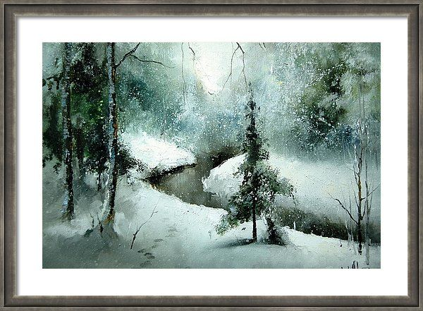 Russian Artists New Wave Framed Print featuring the painting 1st Of January by Igor Medvedev