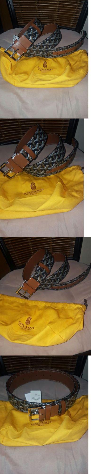 Belts 2993: Goyard Mens Brown Monogram Leather Belt 100Cm (34-36) -> BUY IT NOW ONLY: $239.99 on eBay!