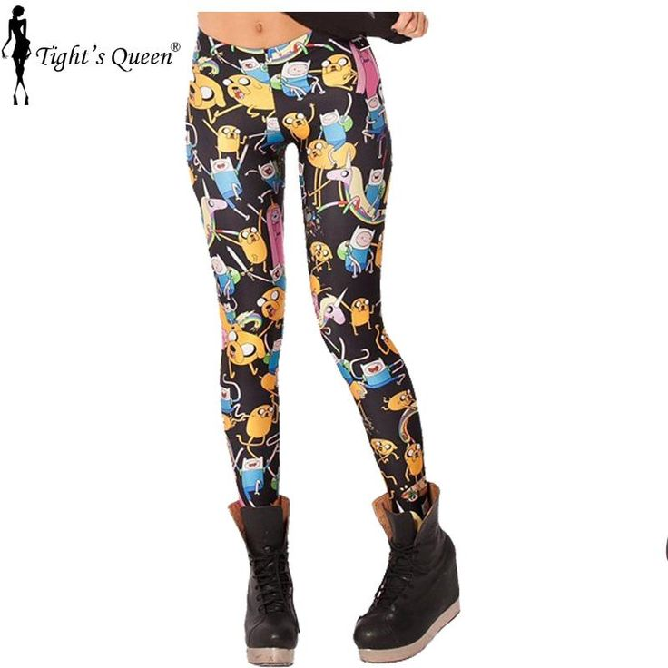 X-032 High quality Lowest price ADVENTURE TIME cartoon pattern 3d print 20 designs women pants PUNK women leggings casual