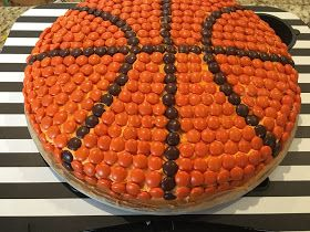 Basketball Party-Reese's Pieces Basketball cake