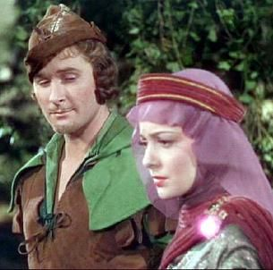 This isn't the great resolution/color, but I still like it. Robin and Marian, Adventures of Robin Hood, 1938 (de Havilland and Flynn).