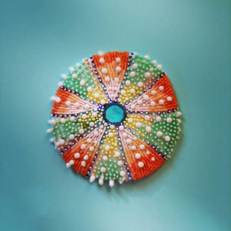 Bead Embroidered Sea Urchin - Eleanor Pigman