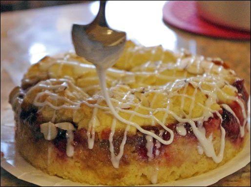 Raspberry Cobbler Coffee Cake Recipe: Cooking Cakes, Coffee Cake Recipes, Coffee Cakes Recipe, Memorial Cakes Recipe