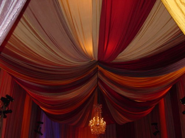 I want to do some sort of fabric draping on the ceiling