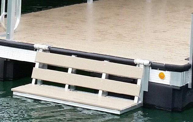 dock bench that fold up when not in use. so you can sit with your feet in the water
