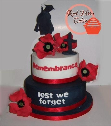 REMEMBERING OUR ANZACS - Cake by Red Moon Cakes
