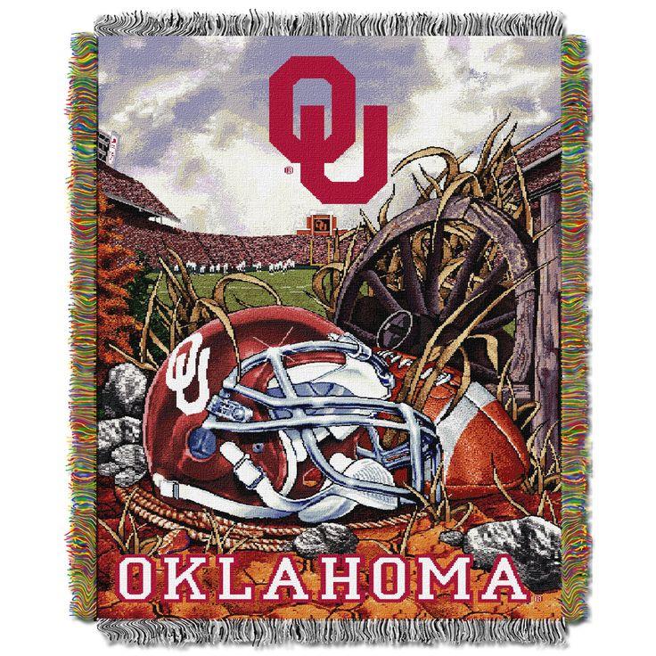 "Oklahoma College """"Home Field Advantage"""" 48x60 Tapestry Throw"