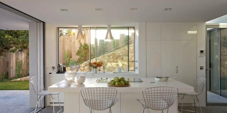 Amazing View Villa in Spanish White kitchen island