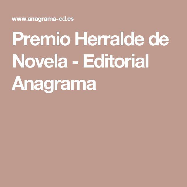 Premio Herralde de Novela - Editorial Anagrama
