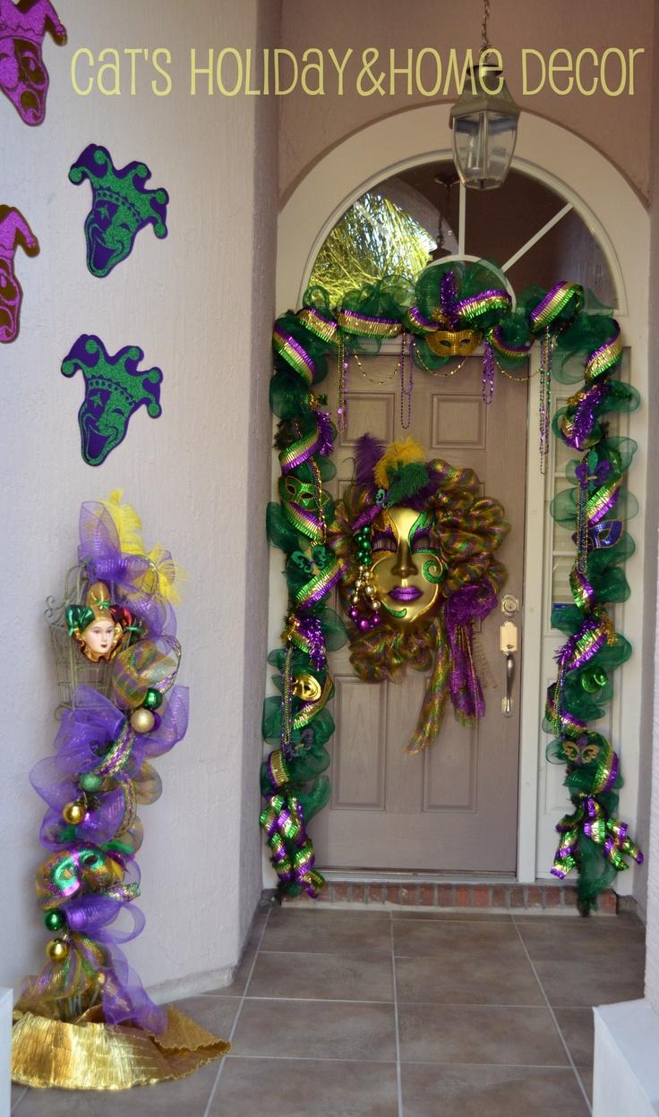 Mardi Gras door decor   My Door Decor & More   Pinterest