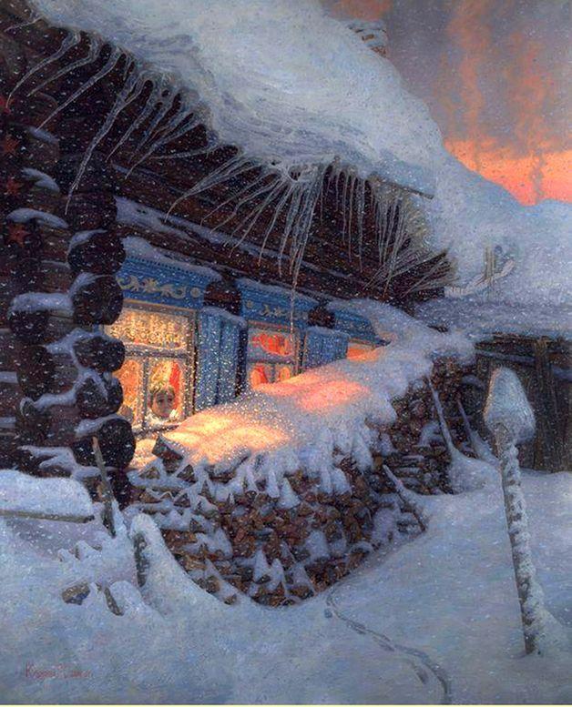 Иллюстрации к стиху зимний вечер