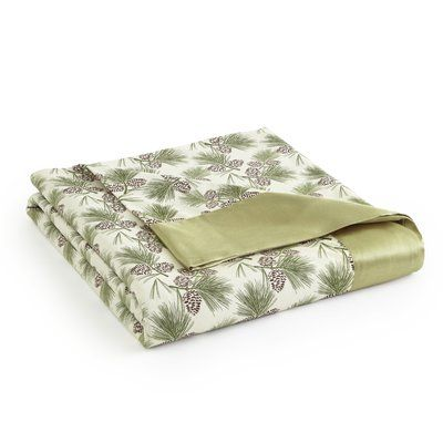 Shavel Micro Flannel All Seasons Sheet Throw Blanket Size: Full / Queen, Color: Pinecone
