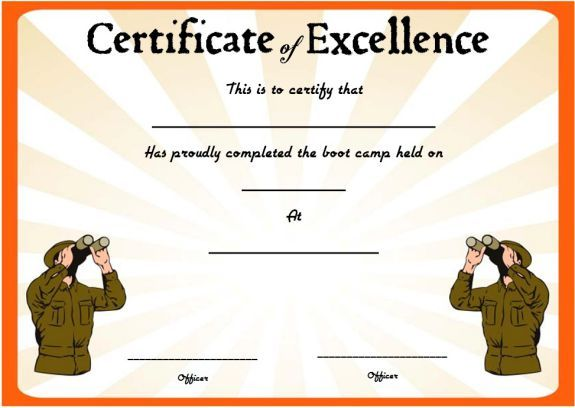 11 best boot camp certificate template images on pinterest boot camp certificate pronofoot35fo Choice Image