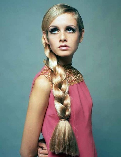 Twiggy in the 60s.