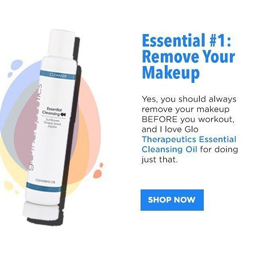 Essential 1: Cleansing Oil 💫 @glotherapeutics Essential Cleansing Oil is an efficient blend of skin-healthy oils that gives you the deepest cleanse by removing excess oils, impurities and makeup, bringing you an immediate, healthy glow and prepping you for your workout. #gymbagessentials #gymbag