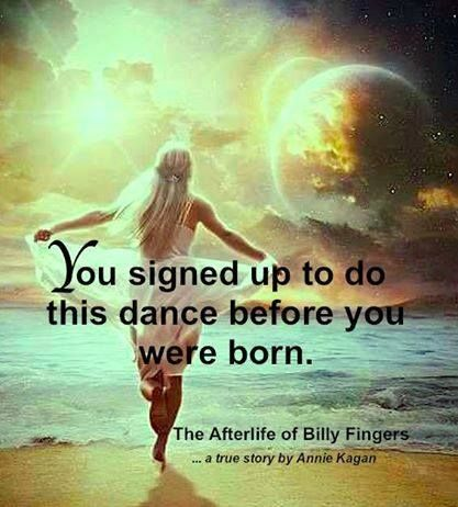 You signed up to do the dance, before you were born ...