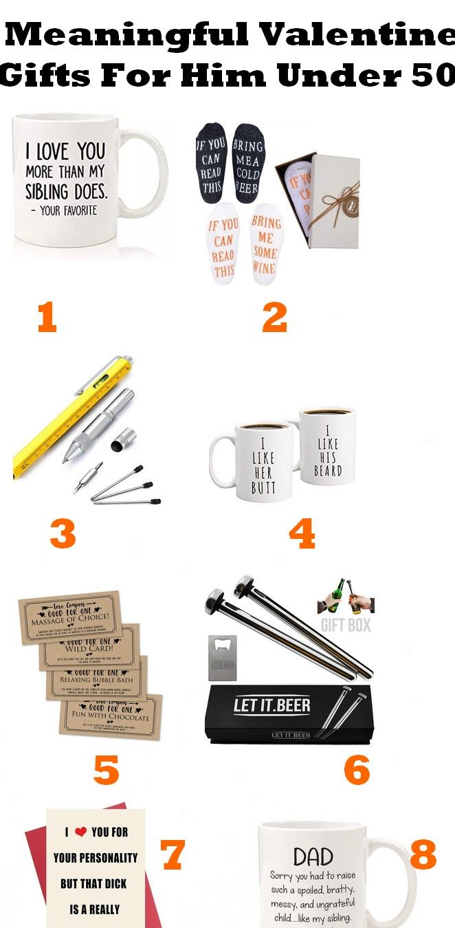 15 Best Meaningful Valentine Gifts For Him Under 50$