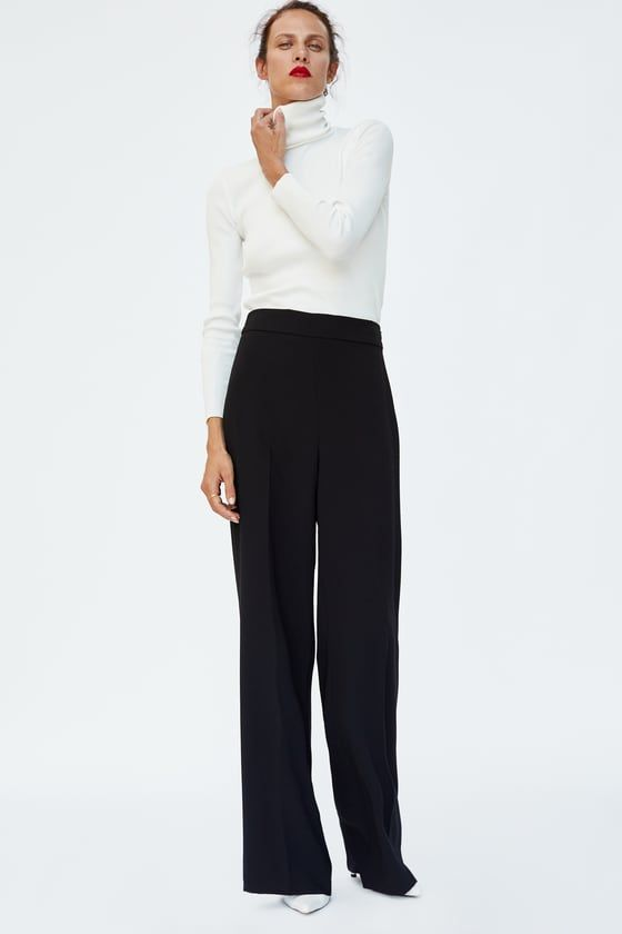 329e8d322dc7d9 FLOWING TROUSERS | Fashion Finds | Flowy pants, Silk t shirt, Pants