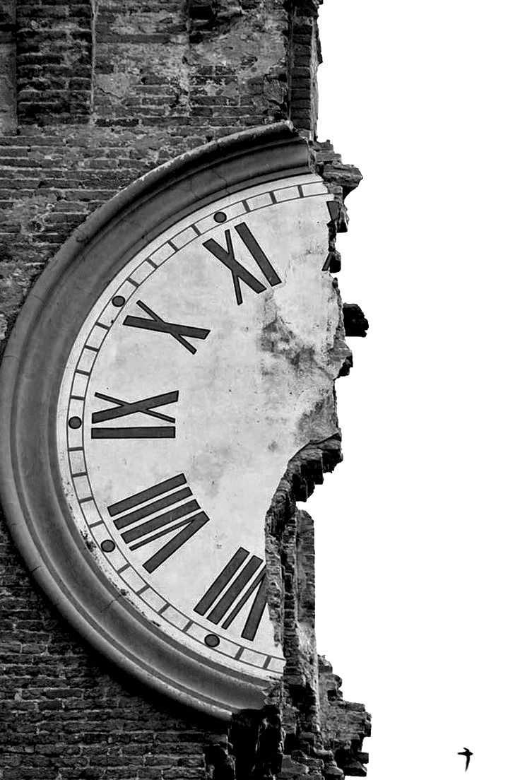 Black and white picture a clock