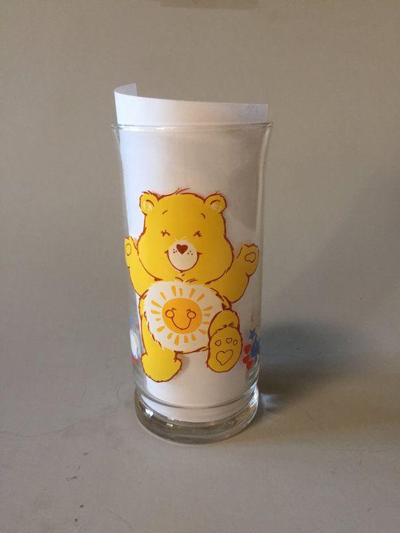 FUNSHINE BEAR GLASS Vintage Care Bears Glass Pizza by TheJellyJar